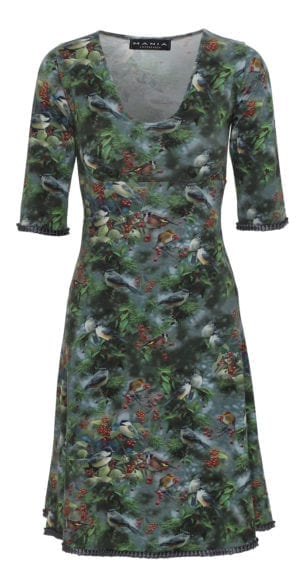 Stella Dress winter bird