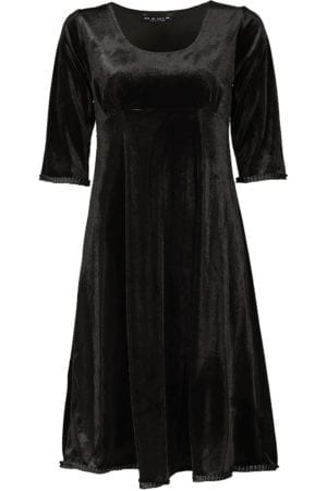 Yvette dress velour, Black