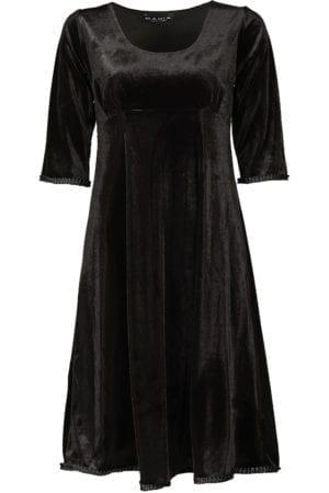 Yvette dress velour, Black