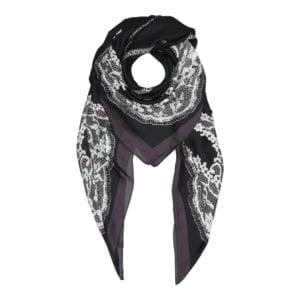 Viscose/silke satin Tørklæde black
