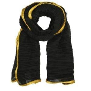 Tørklæde Pliss black/yellow
