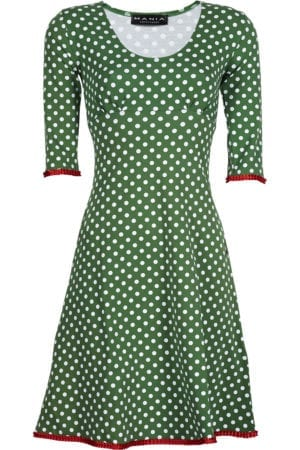 Stella dress dot Green, red