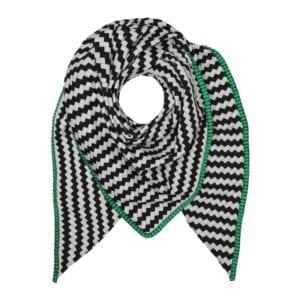 Tørklæde Tiles Green satin