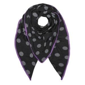 Tørklæde Grey mega dot, purple