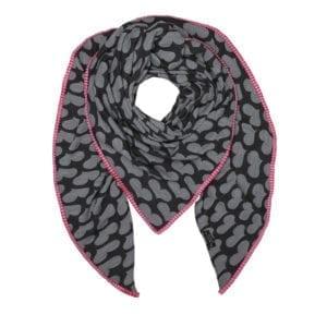 Tørklæde Grey Heart, pink