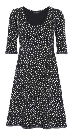 Yvette Dress Mixed Dots  Black, grey