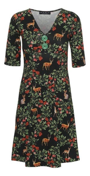 Bibbi Dress deer forest