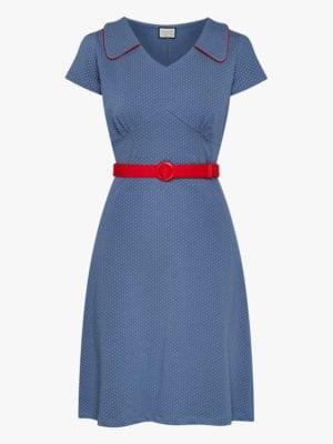 Dress-Vintage moment Polkadots Blue
