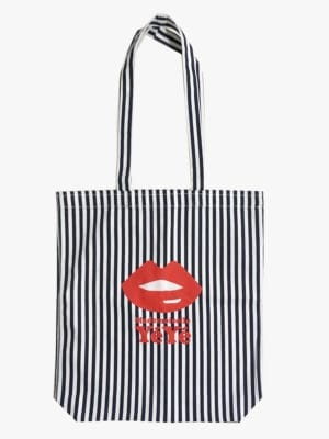 Tote Bag Take it all Blue/White