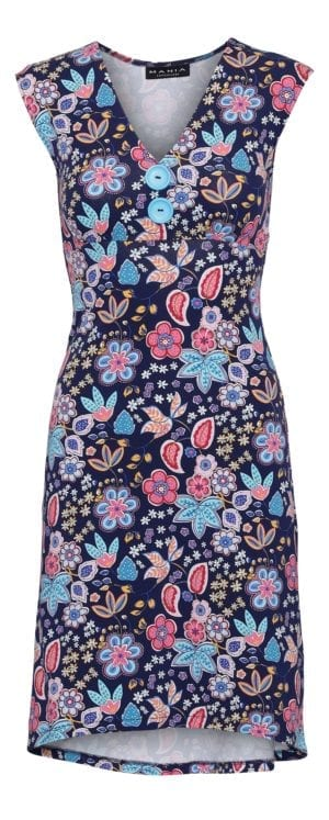 Pin-Up Dress Navy Paisley