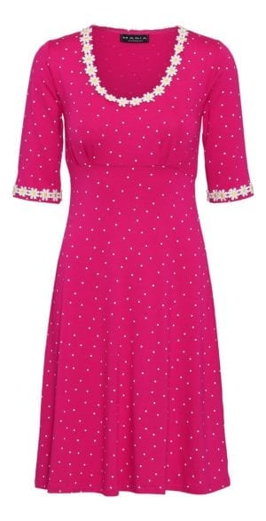 Yvonne dress small dot , pink