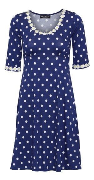 Yvonne dress big dot , blue