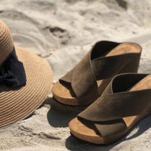 Franches sandal Antilope suede