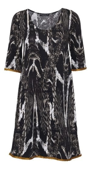 Alice dress black marble