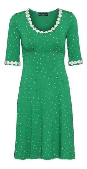 Yvonne dress small dot , green