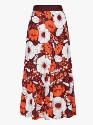 Loving the arts Maxi Skirt Red/Orange