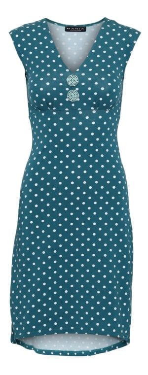 Pin-Up Dress Petrol dot