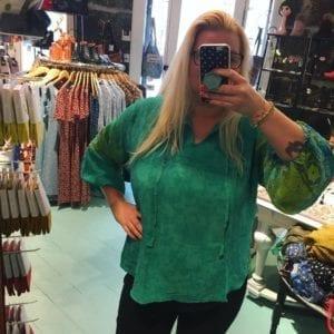 Jaipur shirt sarisilk XL green