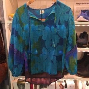Jaipur shirt sarisilk S/M Aqua