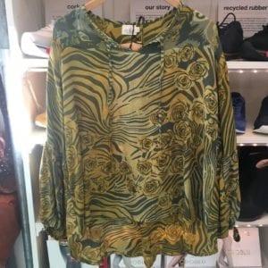 Jaipur shirt sarisilk M/L Olive