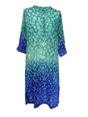 Jennifer dress silk Aqua blue