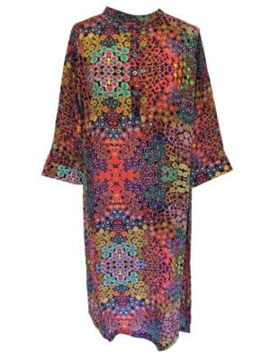 Jennifer dress silk multi color