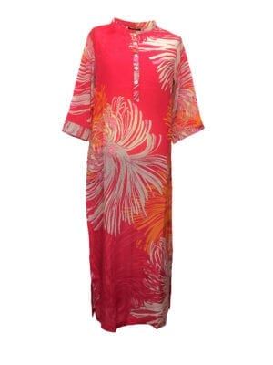 Michelle Maxidress silk coral big flower