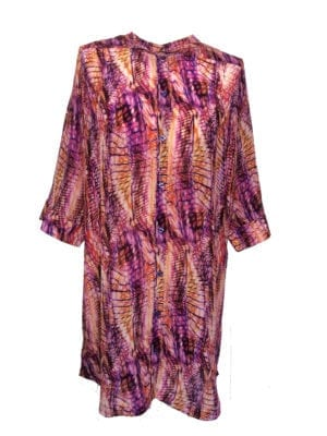 Shelby Silk big Shirt lilac batik