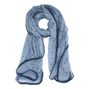 Tørklæde glitter dots blue