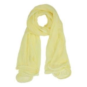 Tørklæde wrinkle yellow