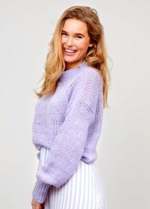 Mila knit mohair lavender