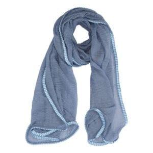 Tørklæde wrinkle Blue