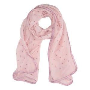 Tørklæde glitter dots Rose
