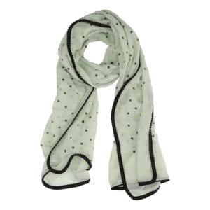 Tørklæde glitter dots Mint
