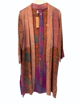 Vintage sarisilk short kimono Multi mix M/L