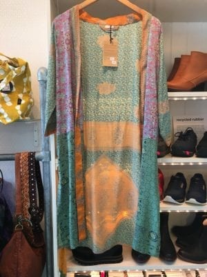Vintage sarisilk short kimono pastel  mix S/M