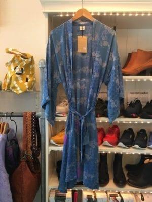 Vintage sarisilk Dubai kimono Deep blue Onesize