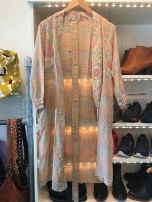 Vintage sarisilk short kimono pale rose mix M/L