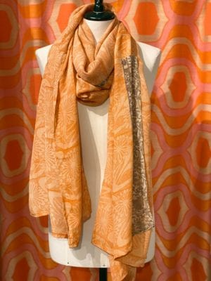 Vintage sarisilk Oversize scarf/sarong 7 Apricot