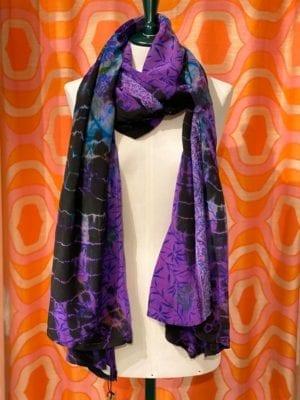 Vintage sarisilk Oversize scarf/sarong 5 Lilla batik