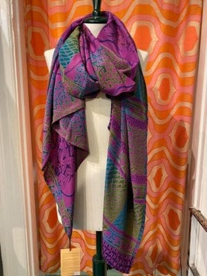 Vintage sarisilk Oversize scarf/sarong 1 Lilla