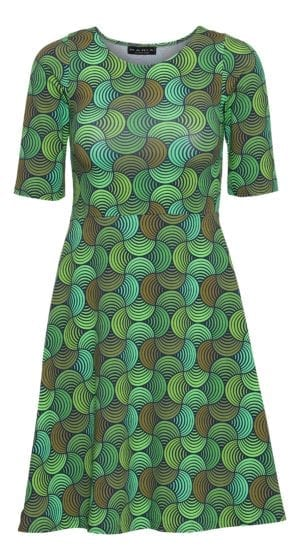 Betty Dress green Bauhaus
