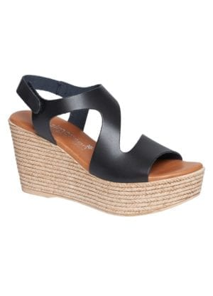 Masha sandal wedges black