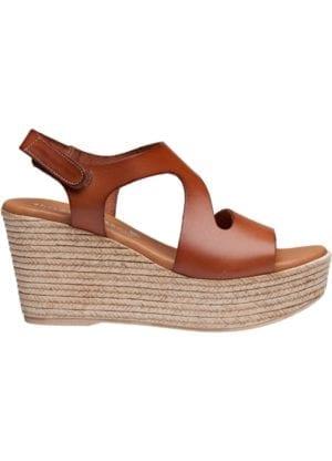 Masha sandal wedges cognac