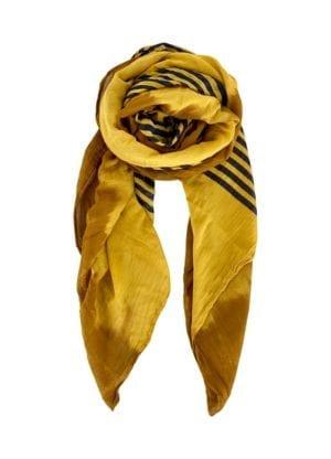 Tørklæde  Billie mustard stripes