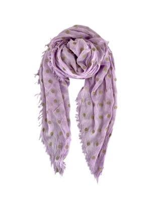 Tørklæde  Faith Gold spot Lavender