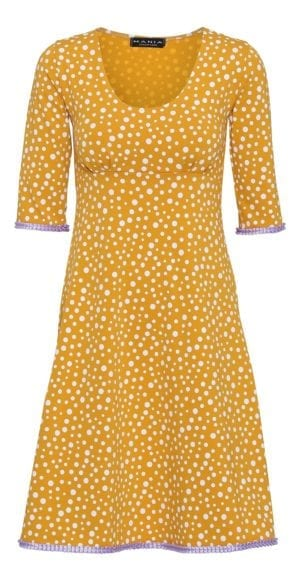 Yvette Dress Mixed Dots, yellow