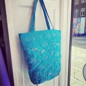Quilt Tote Bag turkis