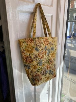 Quilt Tote Bag light yellow