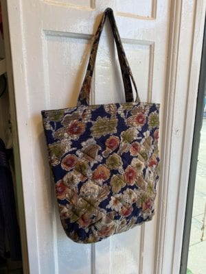 Quilt Tote Bag Navy